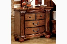 Bellagrand Antique Tobacco Oak Nightstand
