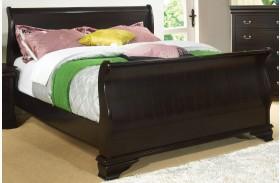 Laurelle Espresso Full Sleigh Bed