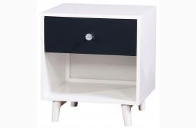 Alivia Blue & White Nightstand