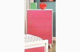 Alivia Pink & White Chest