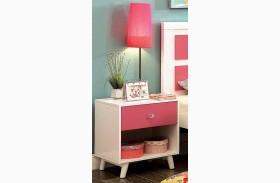 Alivia Pink & White Nightstand