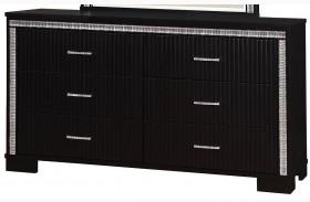 Alver Sleek Black Dresser