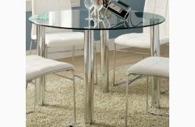 Kona I Glass Top Round Leg Dining Table
