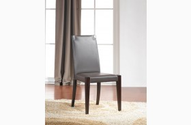 Colibri Chocolate Leather Dining Chair Set of 2