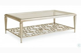 Caracole Classic Taupe Silver Leaf Coffee Table