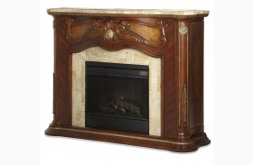 Cortina Marble Top Fireplace With Electric Fireplace Insert