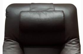 Oslo Espresso Top Grain Leather Cervical Pillow