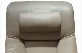 Oslo Putty Top Grain Leather Cervical Pillow