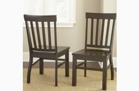 Cayla Dark Oak Finish Side Chair Set of 2