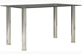 Sariden Chrome Rectangular Dining Table