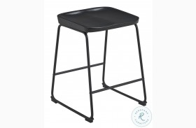 Showdell Black Counter Height Bar Stool Set Of 2