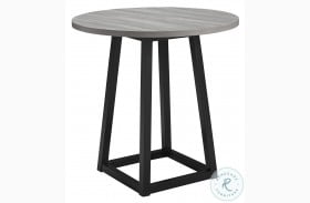 Showdell Gray And Black Counter Height Dining Table