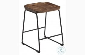 Showdell Brown And Black Counter Height Bar Stool Set Of 2