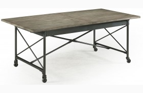 Walton Rectangular Extendable Dining Table With Casters