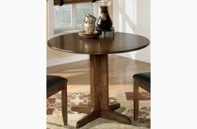 Stuman Round Drop Leaf Extendable Table
