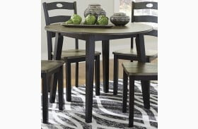 Froshburg Grayish Brown Round Dining Table