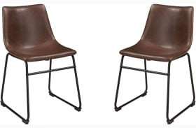 Centiar Brown and Black Dining Upholstered Side Chair Set of 2