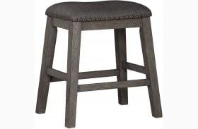 Caitbrook Gray Upholstered Stool Set of 2