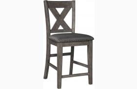 Caitbrook Gray Upholstered Bar Stool Set of 2