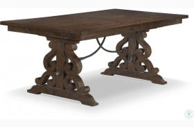 St.Claire Rustic Pine Extendable Rectangular Dining Table