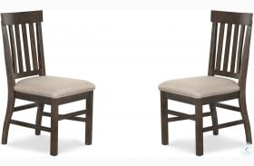 St.Claire Rustic Pine Upholstered Side Chair Set Of 2
