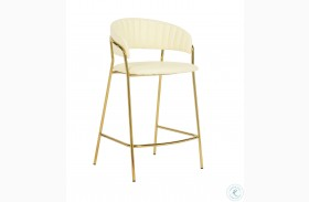 Padma Cream Vegan Counter Stool Set of 2