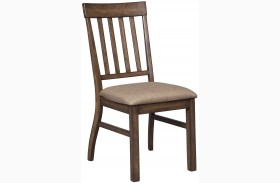 Zilmar Brown Dining Upholstered Side Chair Set of 2