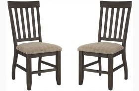 Dresbar Grayish Brown Upholstered Counter Stool Set of 2