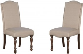 Baxenburg Brown Dining Upholstered Side Chair Set of 2