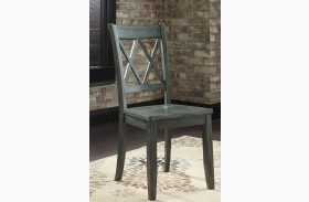 Mestler Antique Blue Side Chair Set of 2