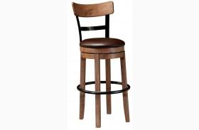 Pinnadel Tall Upholstered Swivel Barstool