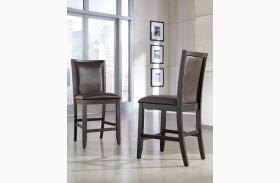 Trishelle Brown Upholstered Counter Stool Set of 2