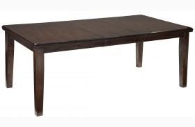 Haddigan Dark Brown Rectangular Extendable Dining Table