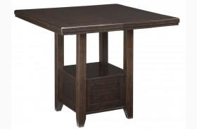 Haddigan Dark Brown Rectangular Extendable Counter Height Dining Table