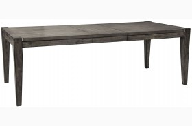 Chadoni Gray Rectangular Extendable Dining Table
