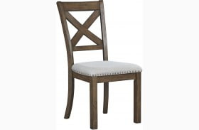 Moriville Beige Upholstered Side Chair Set of 2