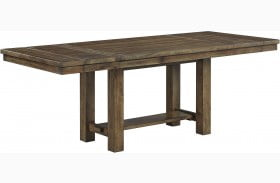 Moriville Grayish Brown Extendable Rectangular Dining Table