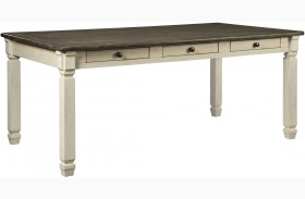 Bolanburg White and Gray Rectangular Dining Table
