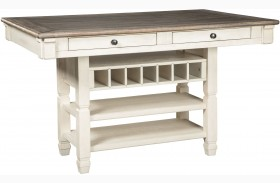 Bolanburg White and Gray Rectangular Counter Height Dining Table