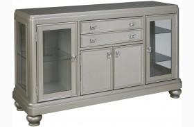 Coralayne Silver 2 Drawer Dining Server