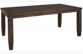 Trudell Dark Brown Rectangular Extendable Dining Table