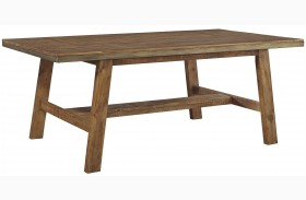 Dondie Brown Rectangular Dining Table