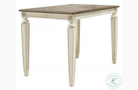 Realyn Two Tone Extendable Counter Height Dining Table