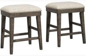 Wyndahl Upholstered Stool Set of 2