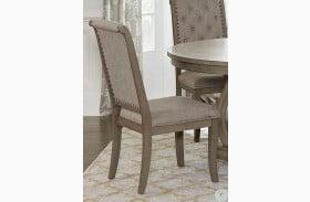 Vermillion Neutral Tone Cream Bisque Side Chair Set of 2