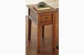Desoto Medium Red Oak Chairside End Table