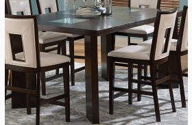 Delano Espresso Cherry Extendable Counter Height Dining Table