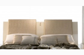 Diamond Ivory Pillows For Bed Set of 2