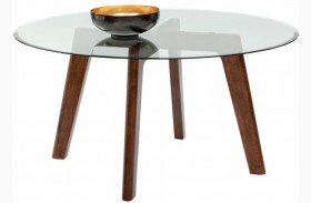 Blaze Umber Brown Round Dining Table