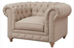 Oxford Beige Linen Chair